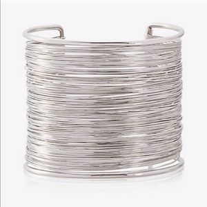 Express silver wire cuff bracelet